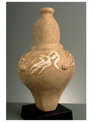 """""""Гърне"""" 2002, каменина, 40х21.5х21.5 см"""