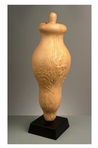 """""""Гърне 1"""" 2002, каменина, 65х18х19 см"""