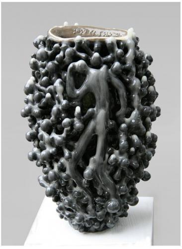 """""""Ваза"""", 2010. Каменина, ангоба, глазура, 33х22х18 см."""