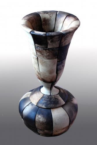 """Ваза"", 2014, каменина, редукция, опушване, 23х16х16 см"
