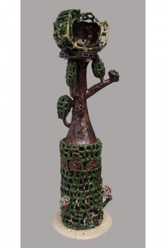 """""""Дървото"""" , 2013, каменина, глазура, 100х35х35 см"""