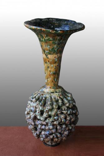 """""""Ваза 7"""", 2012, каменина, глазура, 45х20х20 см"""