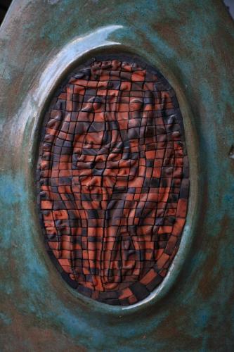"""""""Ваза"""", 2016, червена глина, глазура, 39х32х8 см"""