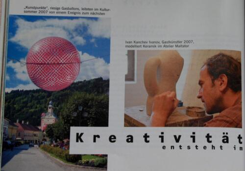 """2007 - награда на фондация """"Култур Контакт"""", Австрия от конкурса за творци специализиращи в областта на изящните изкуства, и фотографи от Централна, Източна и Югоизточна Европа по Art in residence program in the """"International Gastalier im Maltator"""""""