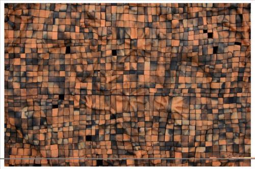 """Чиния"", 2017, 120х120 см, червена глина, редукция, опушване"