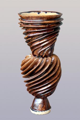 """""""Ваза"""", 2013, каменина, глазура, 27х12х12 см"""