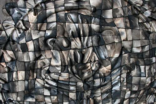 """""""Съд"""", 2017, 80х80 см, каменина, редукция, опушване"""